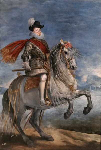 Диего Веласкес - Конный портрет Филиппа III (ок.1631)