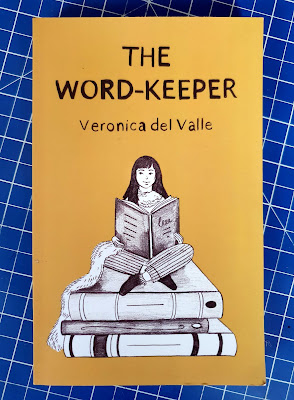 The Word-Keeper by Veronica Del Valle Book cpver with girl sitting cross legged reading