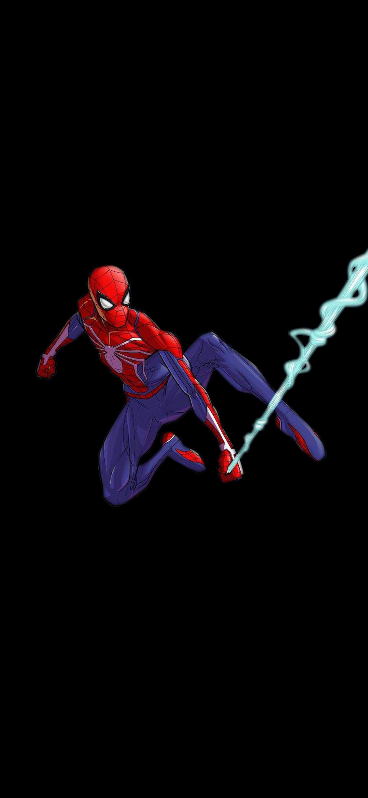 spider man using web