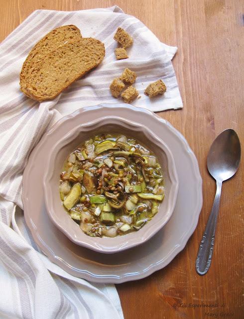 Zuppa Carciofi e Lenticchie