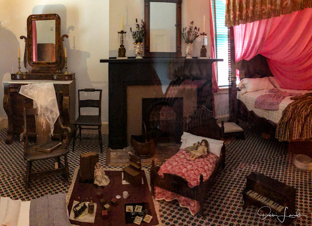 A second floor bedroom at the William Johnson House.