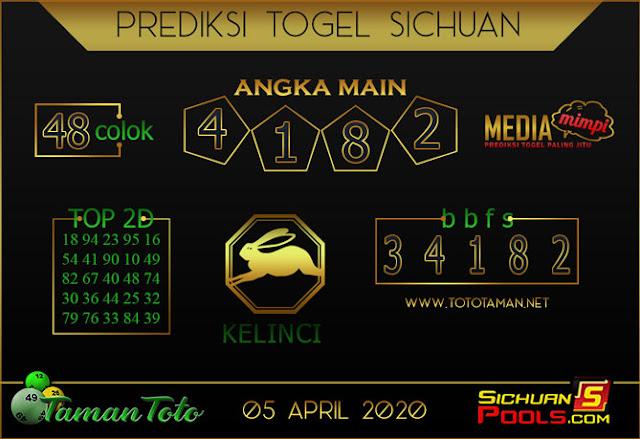Prediksi Togel SICHUAN TAMAN TOTO 05 APRIL 2020