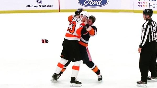 Oskar Lindblom Oliver Wahlstrom NHL Fight