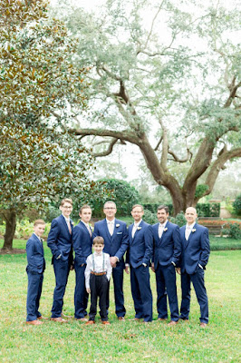 groomsmen and ring bearer