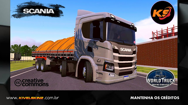 SCANIA P320 - THE FLYING GRIFFIN CINZA