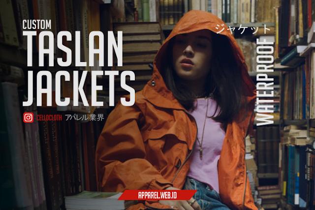 Bikin Taslan Jacket Tahan Air Desain Bordir Komputer - Konveksi Jacket Jogja