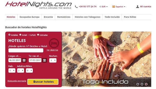 Buscador de hoteles HotelNights