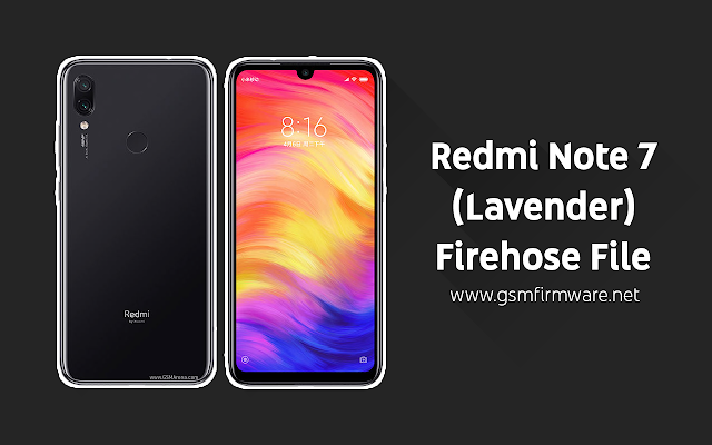 Xiaomi Redmi Note 7 (Lavender) Firehose File [No Need Auth]