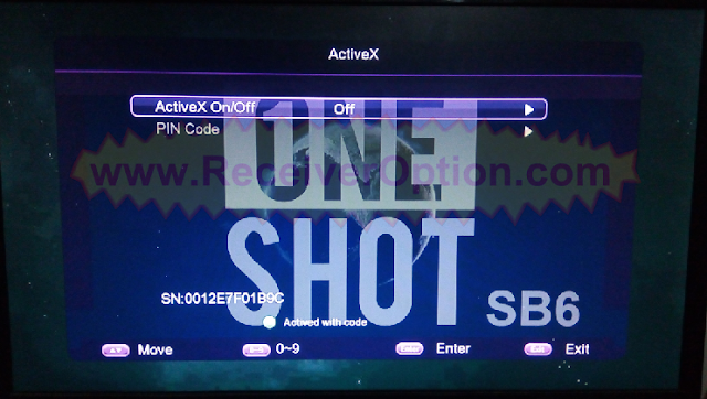 ONE SHOT SB6 PLUS 1506TV NEW SOFTWARE WITH ECAST & ACTIVEX OPTION