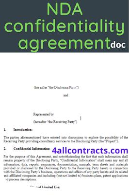 nda non disclosure agreement