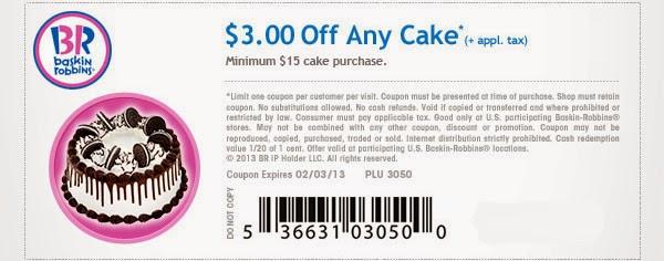 Baskin robbins online coupon code