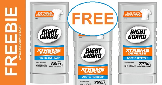 FREE Right Guard Deodorant CVS Deal