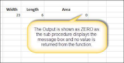 result cell displays ZERO as the area value Shout4Education