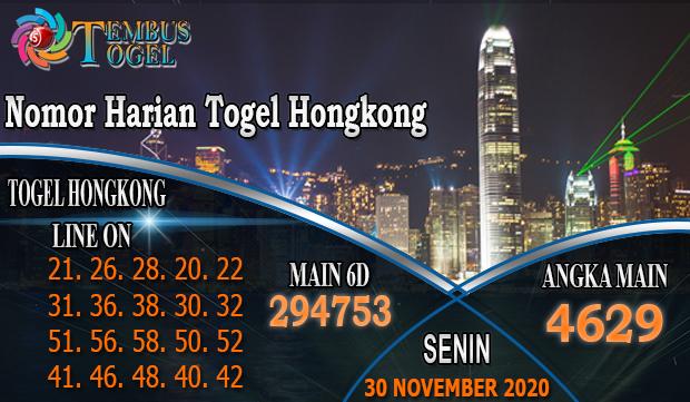 Nomor Harian Togel Hongkong Hari Senin 30 November 2020