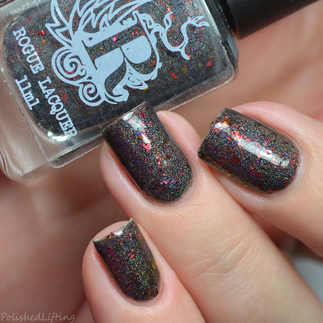 charcoal holographic nail polish