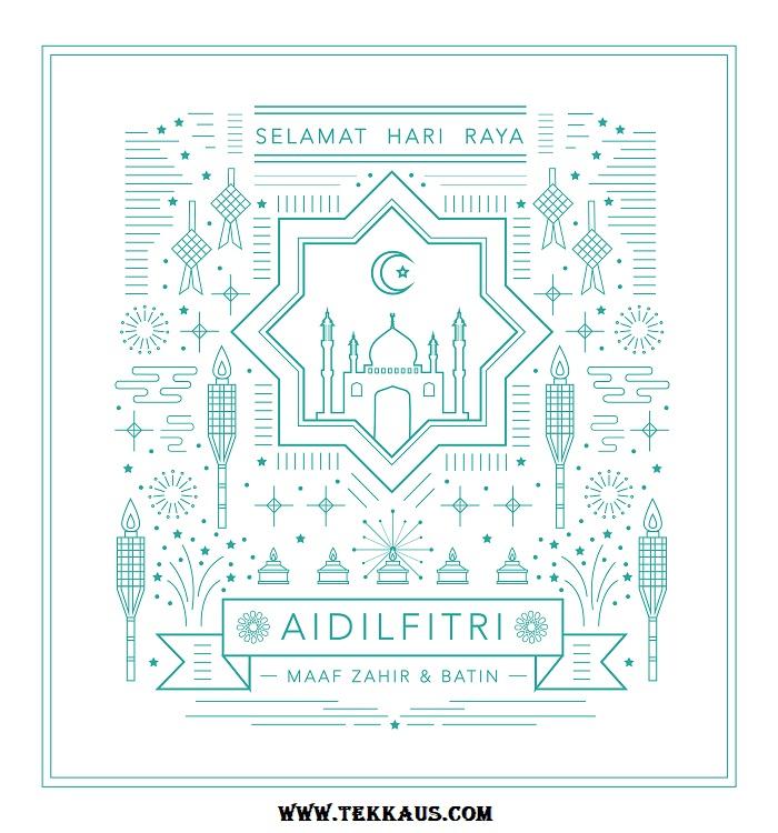 Kad Hari Raya Aidilfitri Masjid