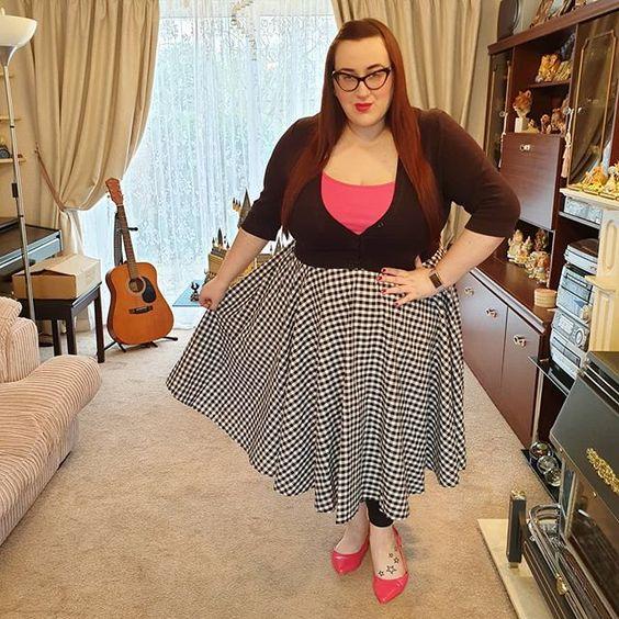 Lindy Bop Check Skirt