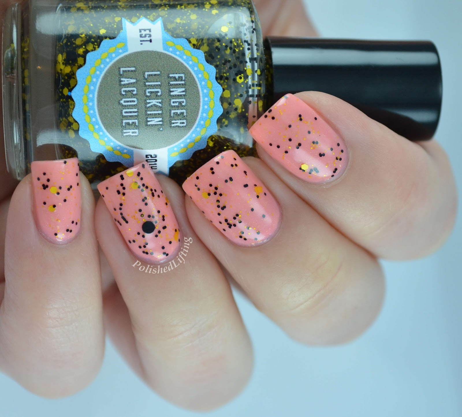 Finger Licking Lacquer She Works Hard For the Honey Peachy Keen Spring In Your Step