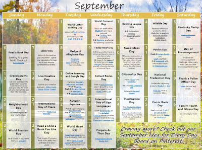 Learning ideas for every September Day.