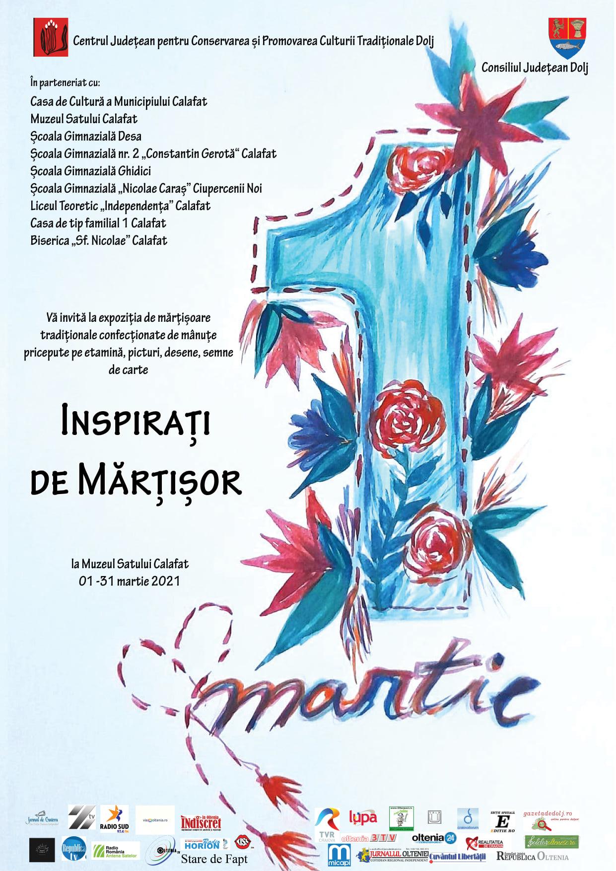 """Expoziția """"Inspirați de Mărțișor"""", la Calafat"""
