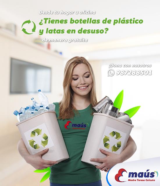 ¿Tienes botellas de plásticos y latas en desuso?