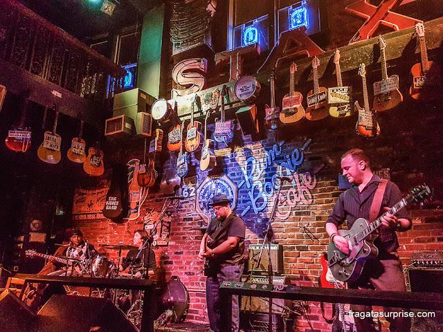 Show de Blues em Beale Street, Memphis, Estados Unidos