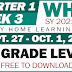 UPDATED! Weekly Home Learning Plan (WHLP) Quarter 1: WEEK 3 (All Grade Levels)