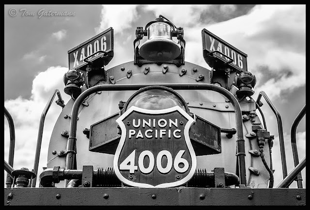 UP Big Boy 4006 - A close up of the number plate