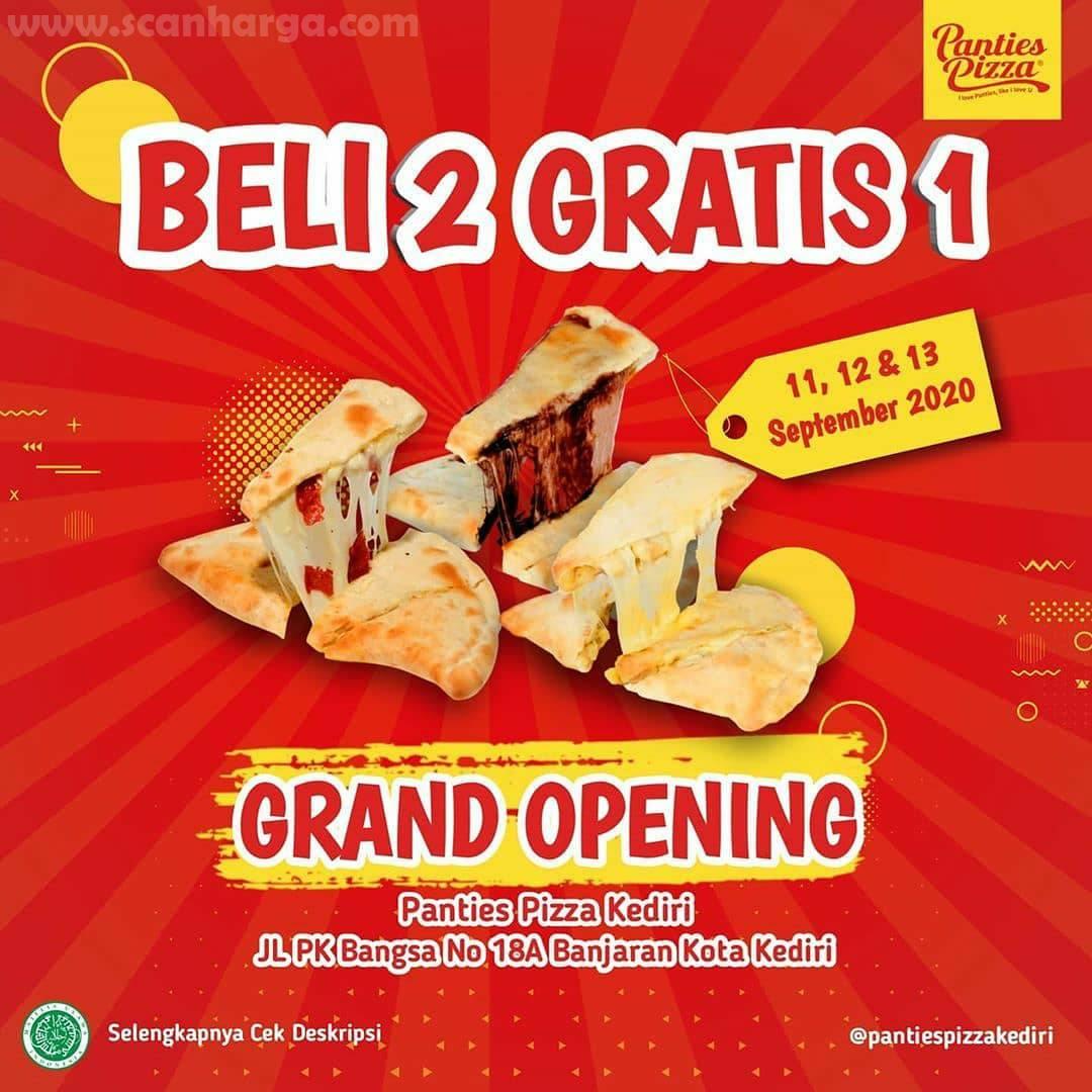 Panties Pizza Promo Beli 2 Gratis 1 Grand Opening Kediri Periode 11 - 13 September 2020