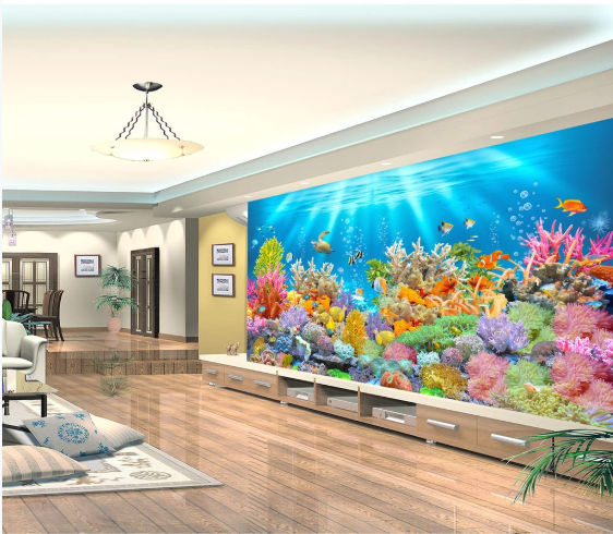Tranh Dán Tường 3D Biển San Hô