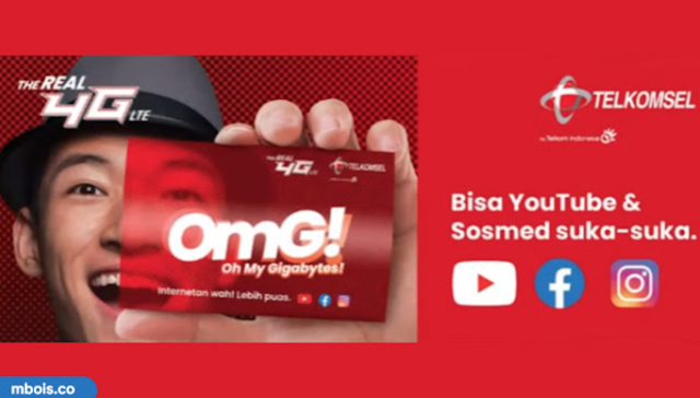 Paket Kuota OMG Telkomsel Terbaru Gratis Buat Youtube, IG, FB