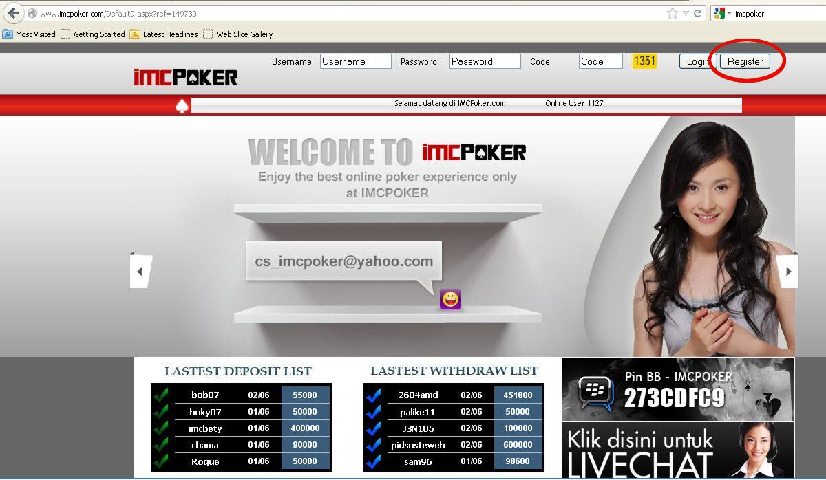 Parkopi Cara Mendaftar Poker Online Imc Poker