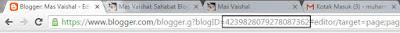 cara melihat id blogger