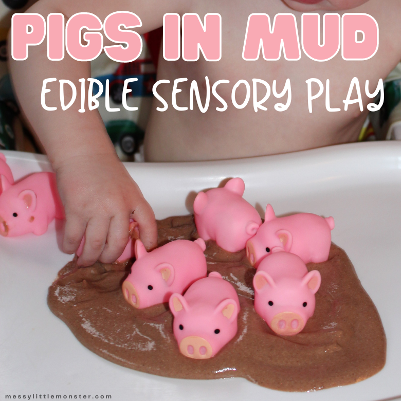 Edible mud sensory play for toddlers