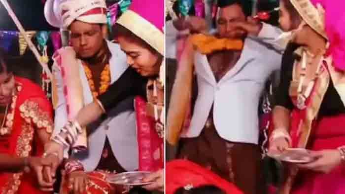 Viral Video: Scared Groom Runs Away After Bride Falls Unconscious During Sindoor Ceremony   Watch, Mumbai, News, Video, Social Media, Marriage, National