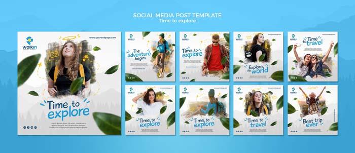 Explore Concept Social Media Post Template