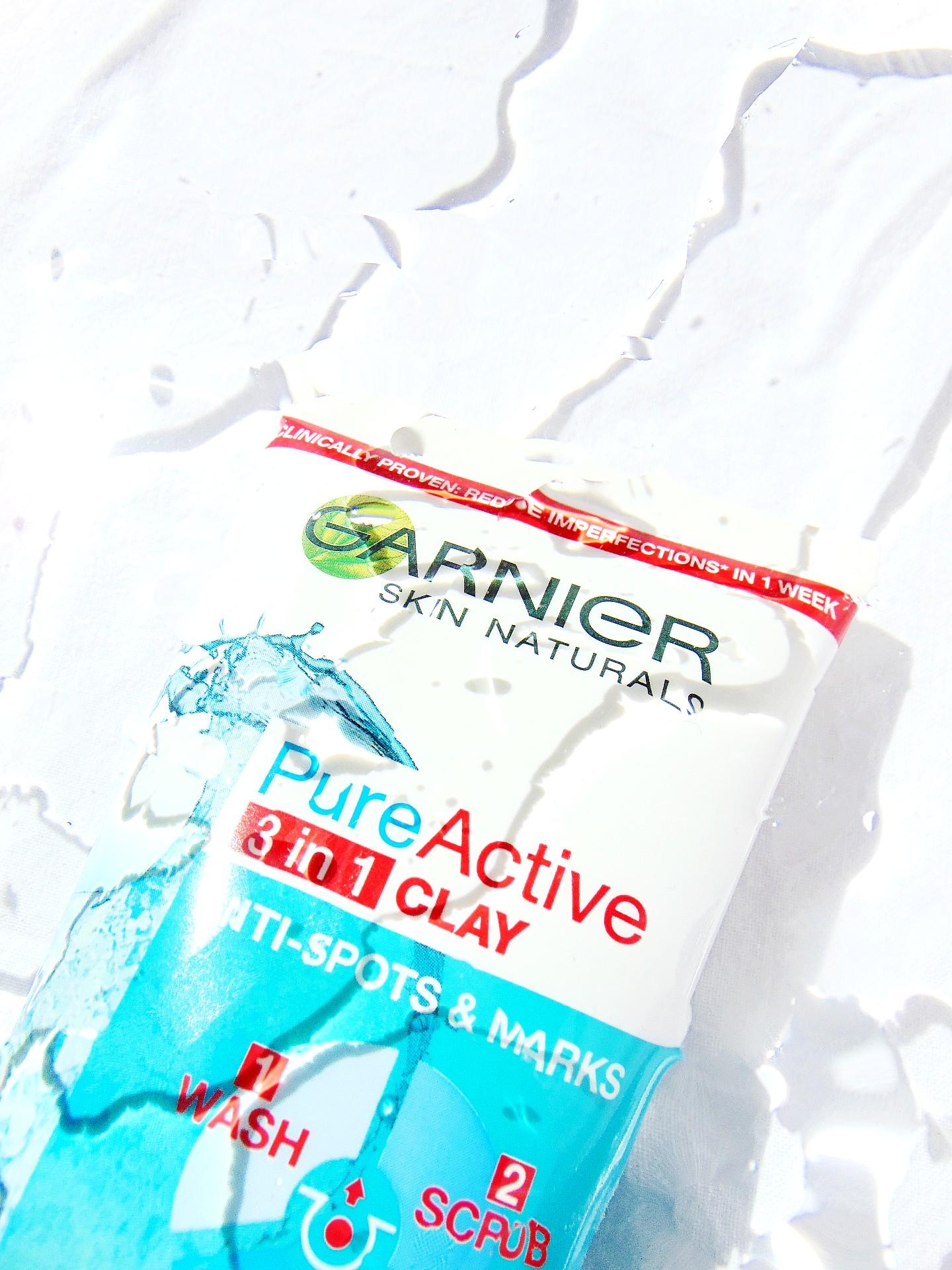 Garnier Pure Active 3in1 Clay Wash Scrub Mask Oily Skin