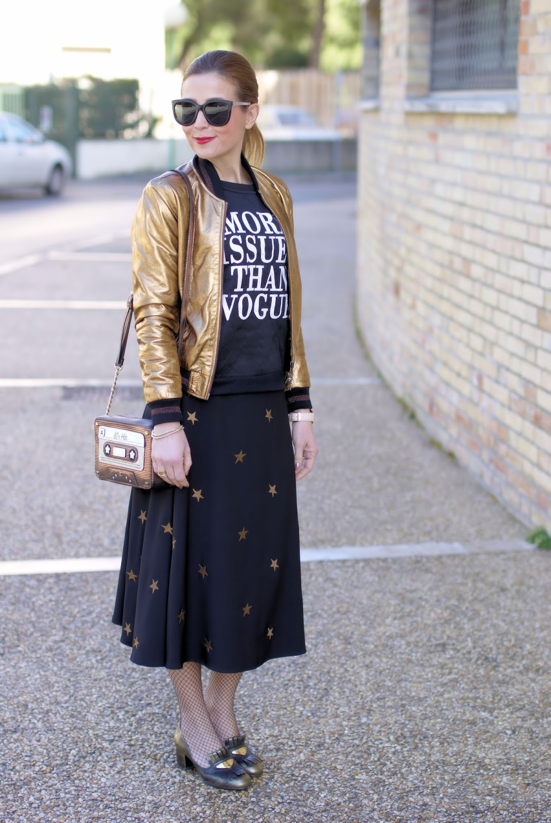 More issues than Vogue fashion outfit on Fashion and Cookies fashion blog, fashion blogger styl