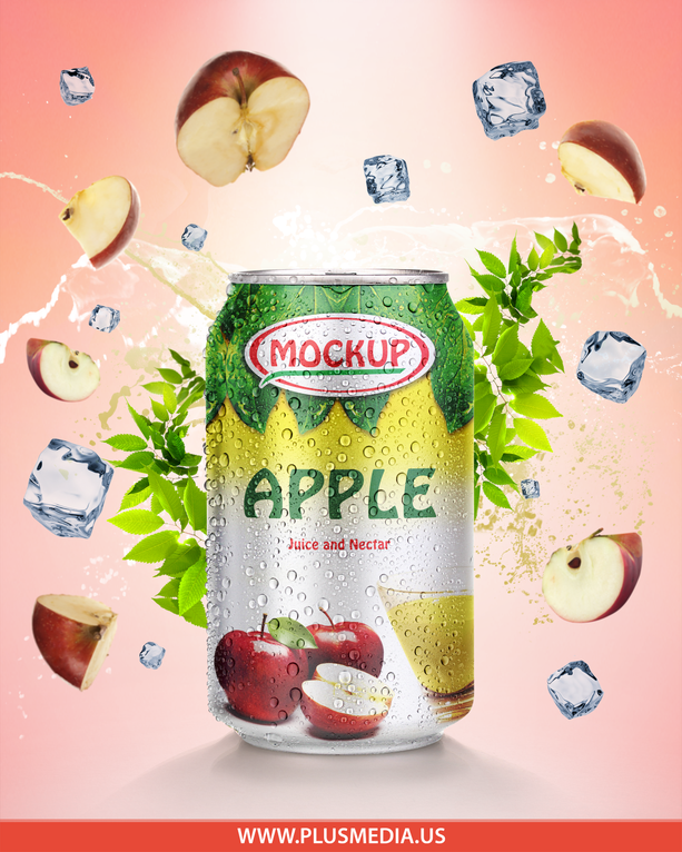 Mock Up Soft Drinks & Juice Products