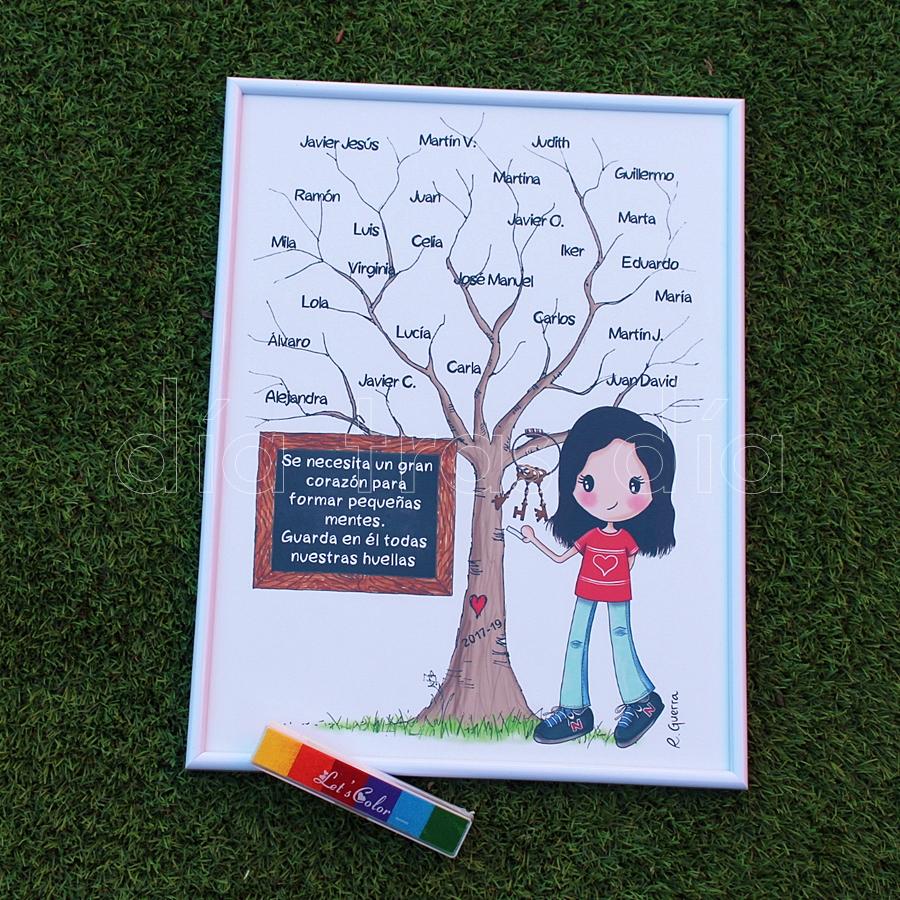 Árbol huellas profe personalizado