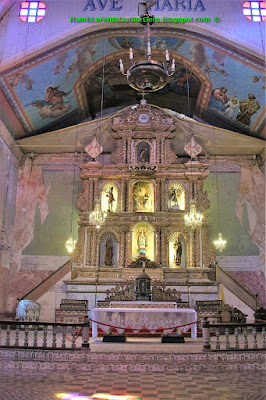 Altar, Baclayon Church, Bohol, Philippines