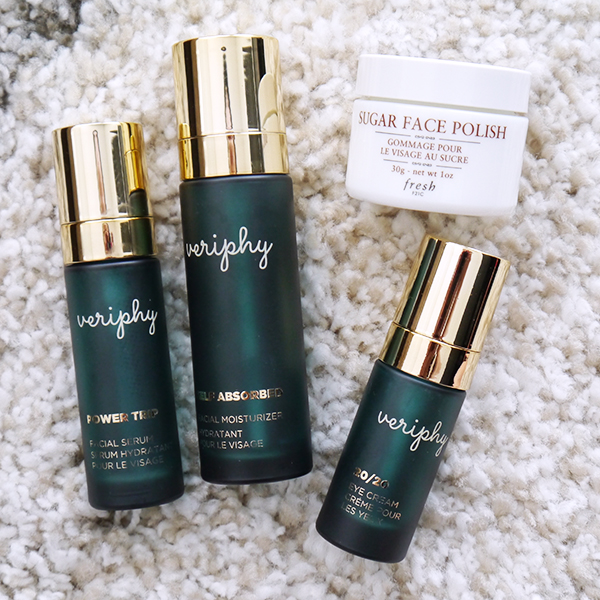 Veriphy skincare and Fresh Sugar Face Polish