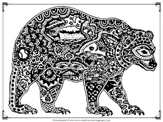 downloads free bear adult coloring pictures