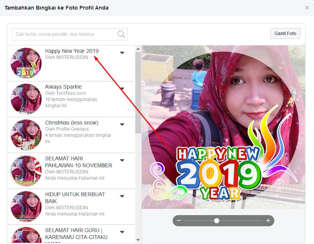 Cara menambahkan bingkai ke gambar profil halaman Anda (Selamat Tahun Baru 2019)