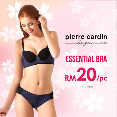 Pierre Cardin Lingerie Malaysia Warehouse Sale Marathon Bra