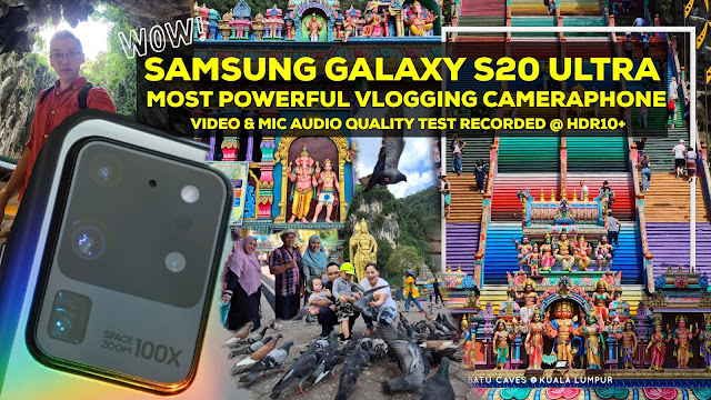 Samsung Galaxy S20 Ultra Most Powerful Vlogging Cameraphone | Video Mic Audio Quality Test recorded at HDR10+