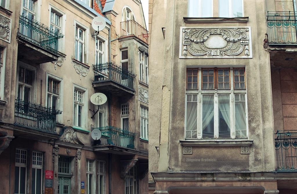 Olsztyn, kamienice przy ulicy Warmińskiej i Mazurskiej