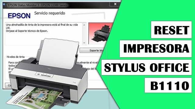 Reset almohadillas de la impresora EPSON Stylus Office B1110