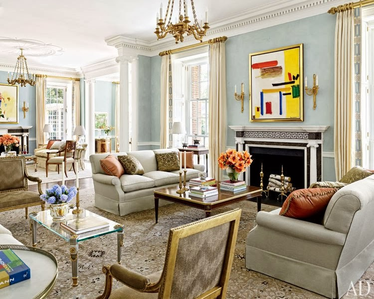 An Architectural Brooklyn Living Room With A Modern: Splendid Sass: ARCHITECTURAL DIGEST FAVORITES