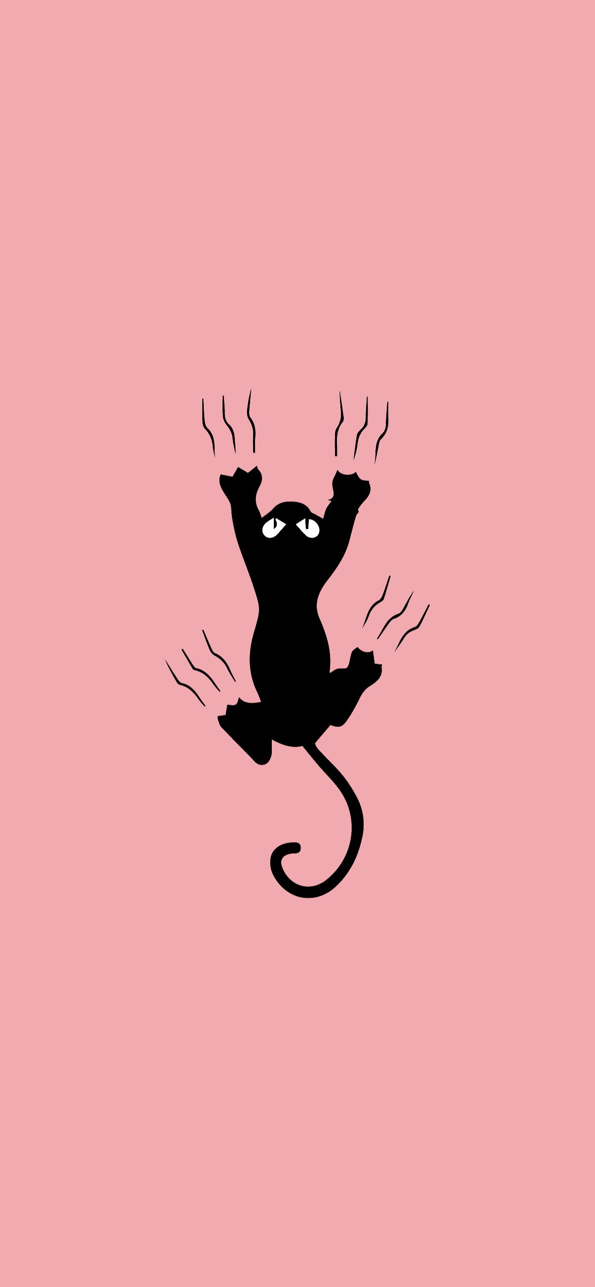 cat scratching minimalist wallpaper hd for phone pink and cute